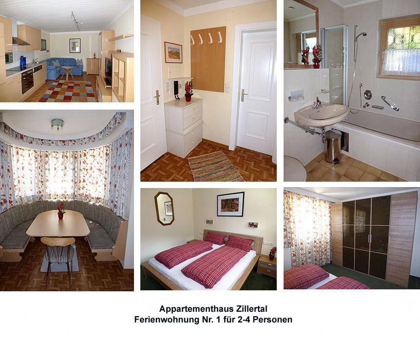 appartementhaus zillertal im sommer ort action