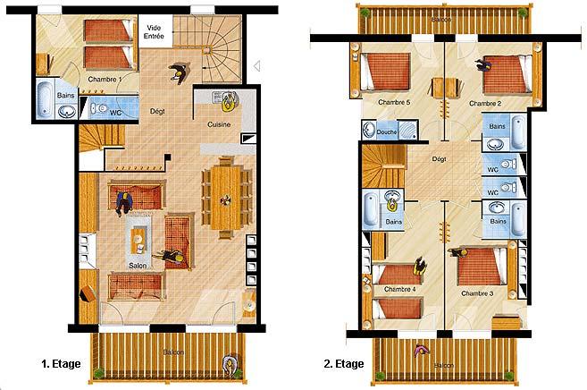 les menuires chalets du soleil unterkunft les menuires st martin de belleville les. Black Bedroom Furniture Sets. Home Design Ideas
